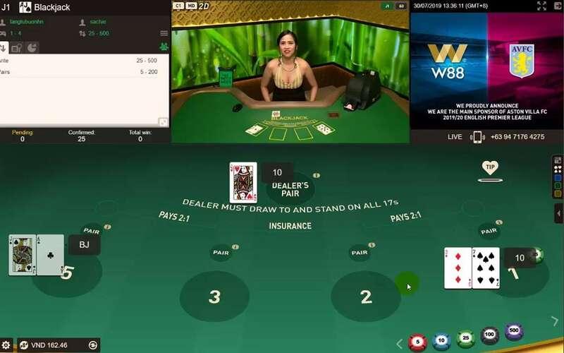 Fungsi Kartu Pada Permainan Blackjack W88