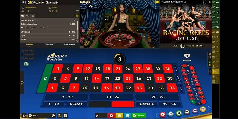 Roulette Games Live Online di W88