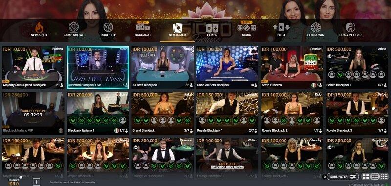 Rules Blackjack di W88 - Sederhana