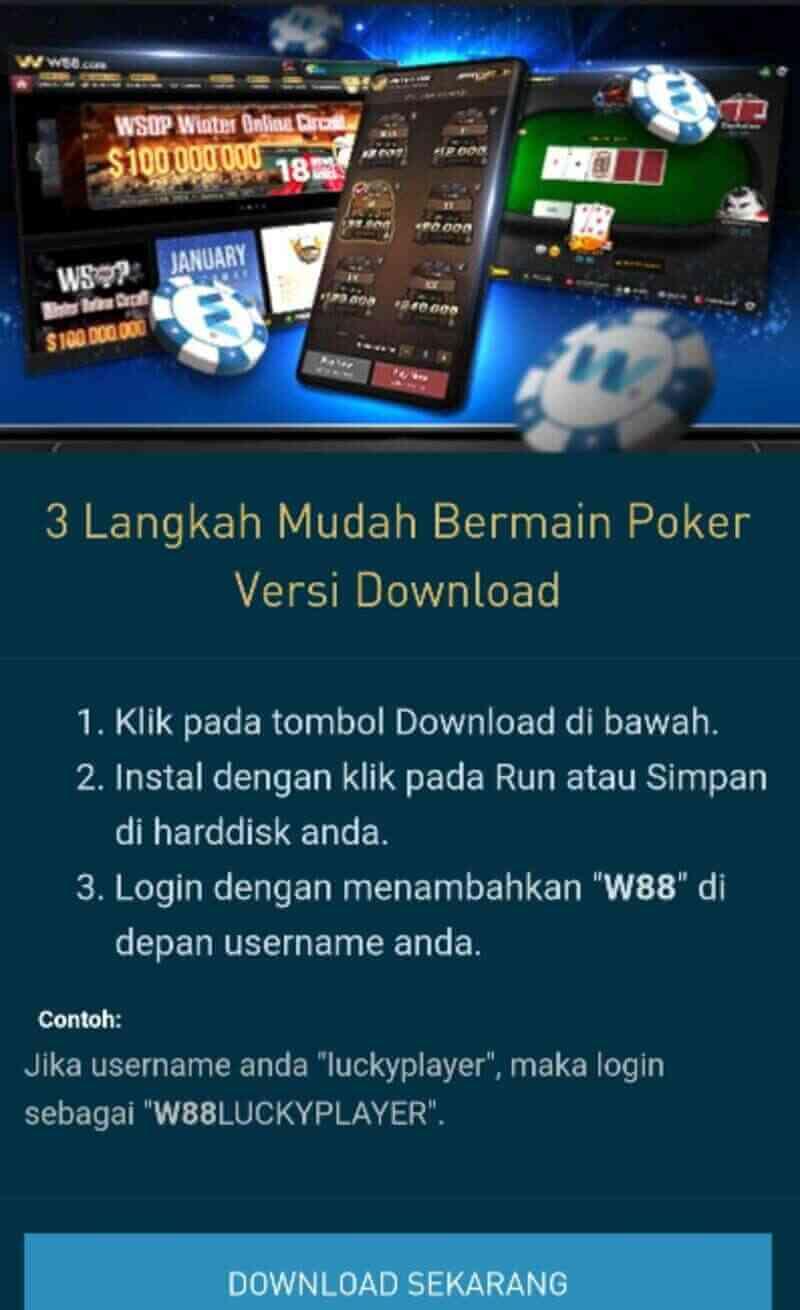 Langkah Praktis Download Poker W88 Android dan iOS yang Menarik