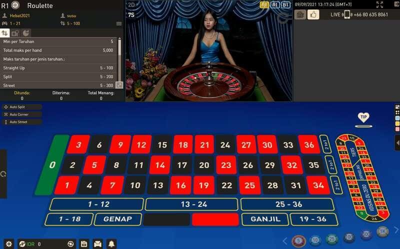 Bermain Roulette Online Casino Live dan Virtual W88